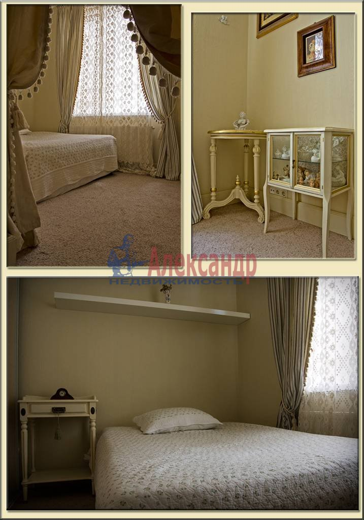 3-комнатная квартира (100м2) в аренду по адресу Крестовский пр., 13— фото 5 из 10