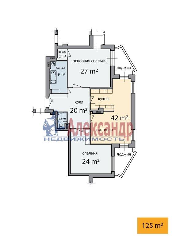 3-комнатная квартира (125м2) в аренду по адресу Шпалерная ул., 60— фото 5 из 5