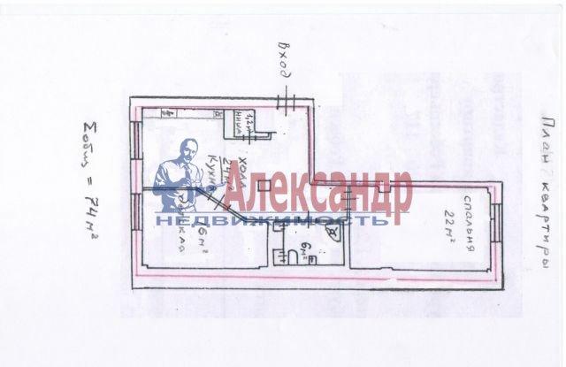 2-комнатная квартира (62м2) в аренду по адресу Воскресенская наб., 4— фото 5 из 5