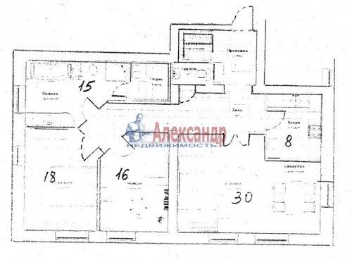 3-комнатная квартира (98м2) на продажу по адресу Павловск г., Слуцкая ул., 14— фото 21 из 24