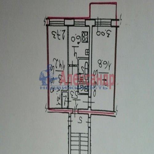 2-комнатная квартира (46м2) на продажу по адресу Беломорская ул., 32— фото 1 из 4