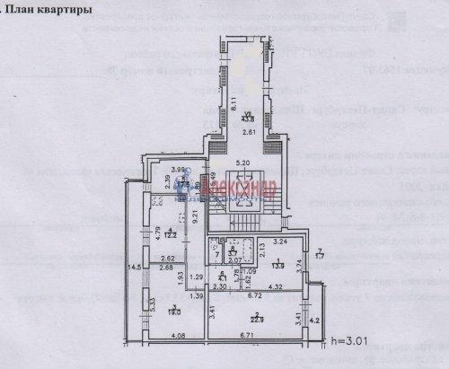 3-комнатная квартира (95м2) на продажу по адресу Шпалерная ул., 60— фото 4 из 11