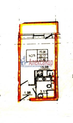 Студия (21м2) на продажу — фото 2 из 3