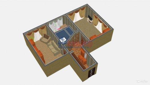 2-комнатная квартира (52м2) на продажу по адресу Коллонтай ул., 47— фото 3 из 15