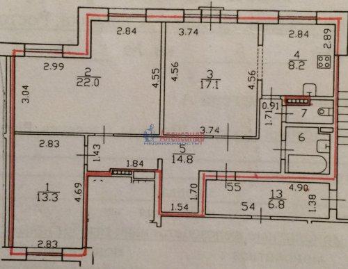 3-комнатная квартира (80м2) на продажу по адресу Пушкин г., Ростовская ул., 6— фото 16 из 16