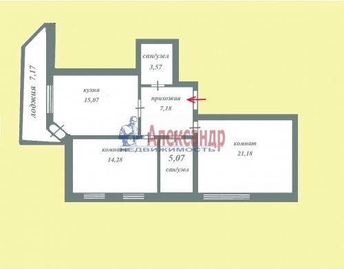 2-комнатная квартира (66м2) на продажу по адресу Всеволожск г., Колтушское шос., 94— фото 2 из 17