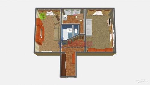 2-комнатная квартира (52м2) на продажу по адресу Коллонтай ул., 47— фото 2 из 15