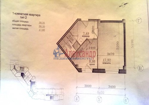 1-комнатная квартира (39м2) на продажу по адресу Приморское шос., 293— фото 12 из 12