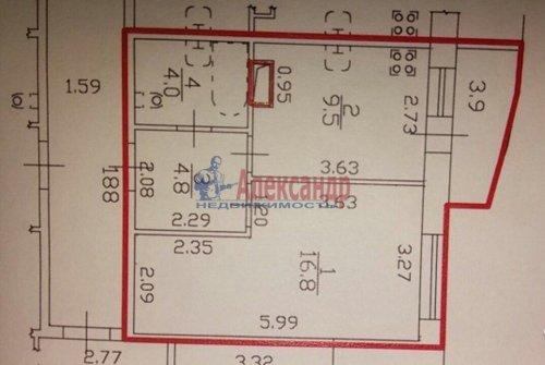 1-комнатная квартира (37м2) на продажу по адресу Серебристый бул., 17— фото 3 из 5