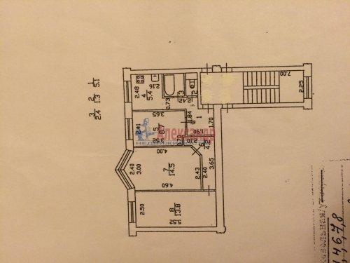 3-комнатная квартира (55м2) на продажу по адресу Петергоф г., Разведчиков бул., 16— фото 3 из 3