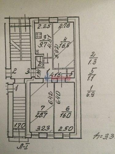 3-комнатная квартира (72м2) на продажу по адресу Ропшинская ул., 22— фото 2 из 10