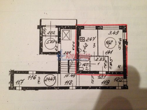 1-комнатная квартира (33м2) на продажу по адресу Белградская ул., 18— фото 5 из 5