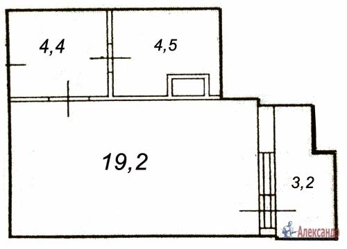 1-комнатная квартира (31м2) на продажу по адресу Свердлова пгт., Западный пр-д., 15— фото 3 из 7