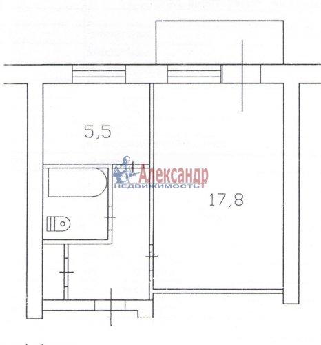 1-комнатная квартира (33м2) на продажу по адресу Старая дер., Школьный пер., 10— фото 8 из 8