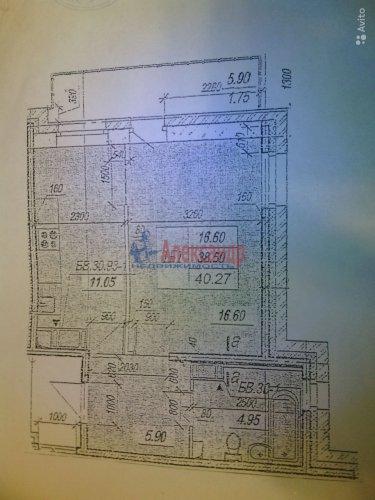 1-комнатная квартира (42м2) на продажу по адресу Янино 1-е дер., Кольцевая ул., 8— фото 1 из 1