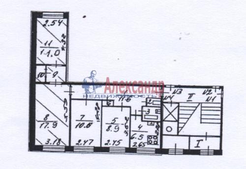 4-комнатная квартира (74м2) на продажу по адресу Художников пр., 3— фото 4 из 4
