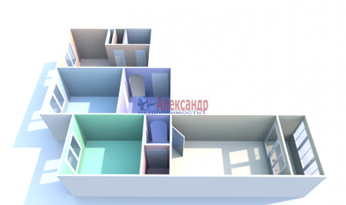 3-комнатная квартира (71м2) на продажу по адресу Народная ул., 68— фото 12 из 13