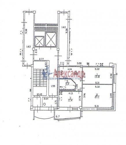 2-комнатная квартира (64м2) на продажу по адресу Октябрьская наб., 126— фото 1 из 19