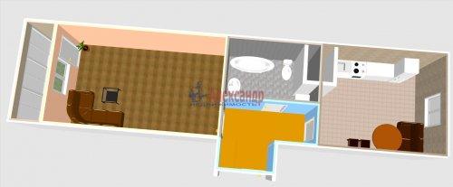 1-комнатная квартира (40м2) на продажу по адресу Шушары пос., Новгородский просп., 10— фото 2 из 10