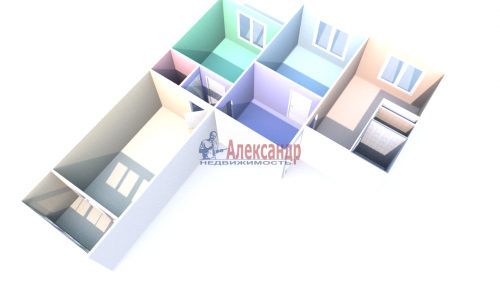 3-комнатная квартира (71м2) на продажу по адресу Народная ул., 68— фото 13 из 13