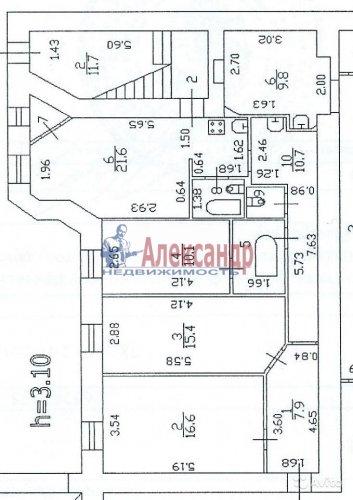 3-комнатная квартира (90м2) на продажу по адресу Всеволода Вишневского ул., 11— фото 1 из 9