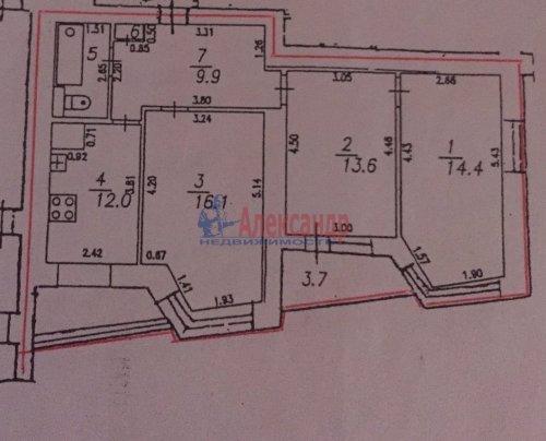 3-комнатная квартира (70м2) на продажу по адресу Художников пр., 13— фото 18 из 18