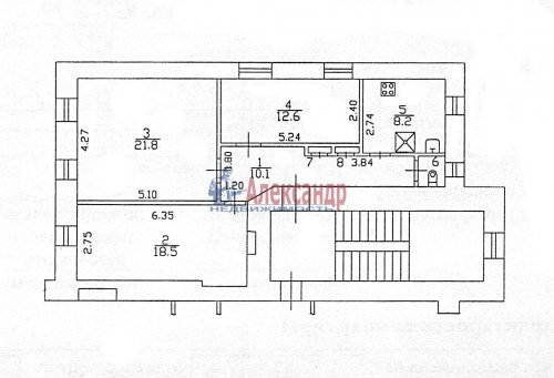 3-комнатная квартира (73м2) на продажу по адресу Мира ул., 6— фото 6 из 6