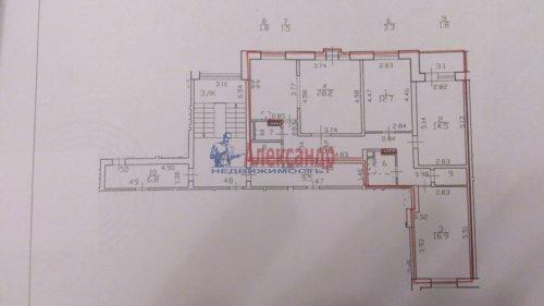 4-комнатная квартира (94м2) на продажу по адресу Шушары пос., Ростовская (Славянка) ул., 6— фото 2 из 9