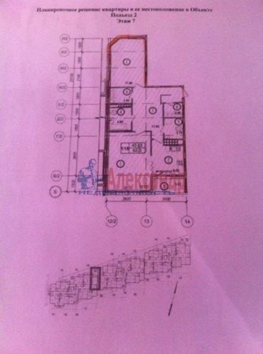 2-комнатная квартира (82м2) на продажу по адресу Береговая ул., 6— фото 2 из 8