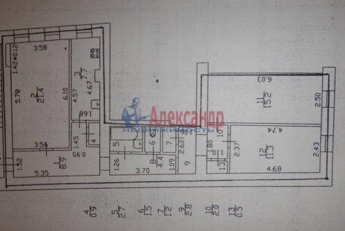 3-комнатная квартира (81м2) на продажу по адресу Казанская ул., 23— фото 8 из 16