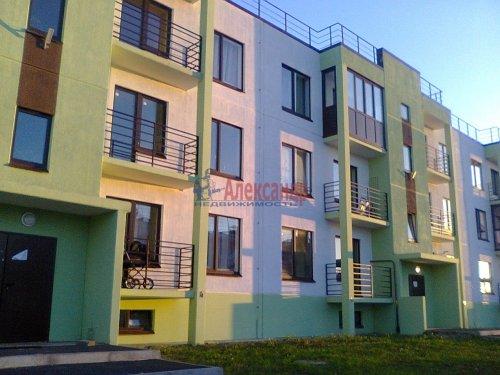 1-комнатная квартира (38м2) на продажу по адресу Вартемяги дер., Ветеранов ул., 13— фото 1 из 4
