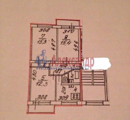 3-комнатная квартира (61м2) на продажу по адресу Культуры пр., 26— фото 3 из 3