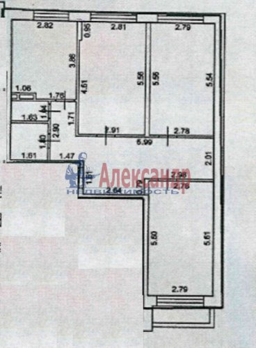 2-комнатная квартира (64м2) на продажу по адресу Лесколово пос., Красноборская ул., 4В— фото 2 из 23