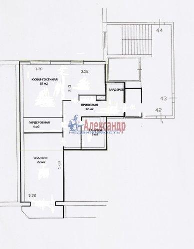 2-комнатная квартира (66м2) на продажу по адресу Всеволожск г., Центральная ул., 8— фото 2 из 12