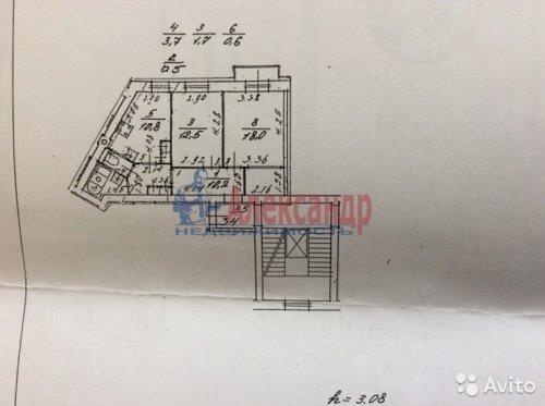 2-комнатная квартира (58м2) на продажу по адресу Полярников ул., 8— фото 2 из 2