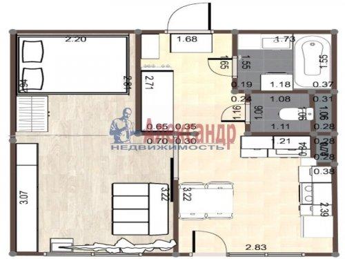 1-комнатная квартира (33м2) на продажу по адресу Всеволожск г., Колтушское шос., 44— фото 1 из 16