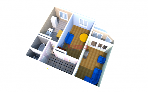 2-комнатная квартира (55м2) на продажу по адресу Латышских Стрелков ул., 5— фото 4 из 4