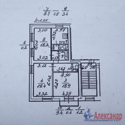 3-комнатная квартира (81м2) на продажу по адресу Таврический пер., 12— фото 9 из 27