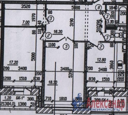 2-комнатная квартира (77м2) на продажу по адресу Маршала Тухачевского ул., 23— фото 1 из 1