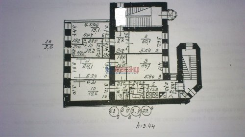 Комната в 5-комнатной квартире (167м2) на продажу по адресу Бакунина пр., 7— фото 3 из 3