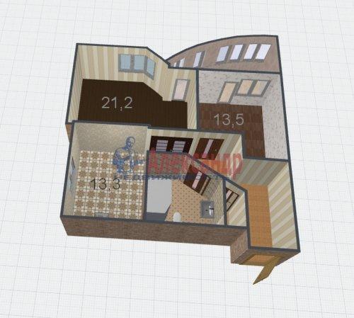 2-комнатная квартира (71м2) на продажу по адресу Всеволожск г., Колтушское шос., 96— фото 10 из 10