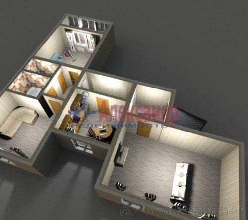3-комнатная квартира (72м2) на продажу по адресу Коллонтай ул., 23— фото 2 из 8