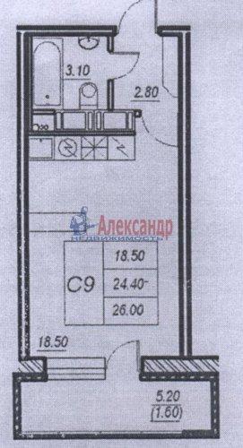 Студия (26м2) на продажу — фото 2 из 2