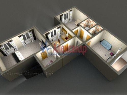 3-комнатная квартира (72м2) на продажу по адресу Коллонтай ул., 23— фото 7 из 8
