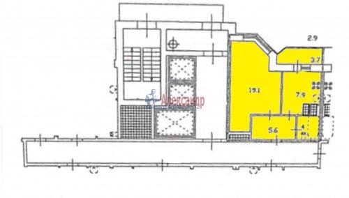 1-комнатная квартира (40м2) на продажу по адресу Караваевская ул., 28— фото 7 из 9