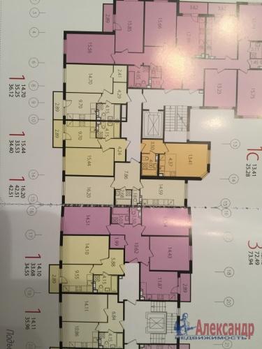 1-комнатная квартира (43м2) на продажу по адресу Сертолово-2 пос., Мира ул., 13— фото 4 из 4