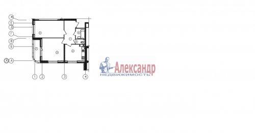 2-комнатная квартира (64м2) на продажу по адресу Реки Смоленки наб., 3— фото 1 из 1