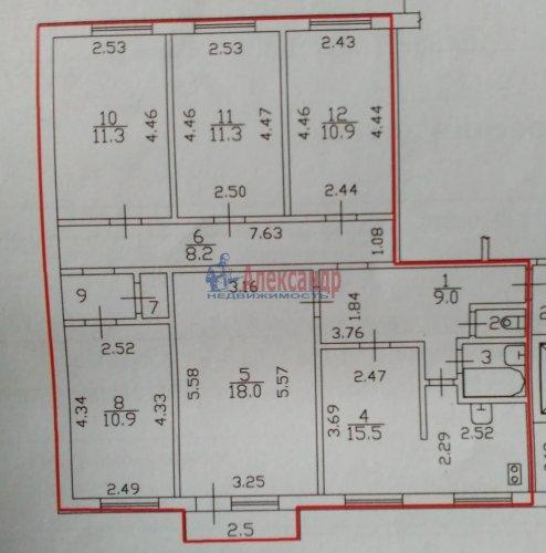 5-комнатная квартира (101м2) на продажу по адресу Королева пр., 44— фото 17 из 17