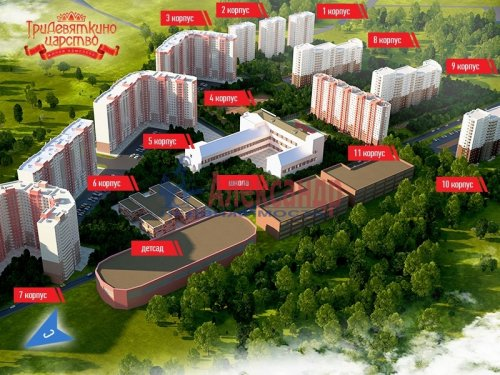 2-комнатная квартира (57м2) на продажу по адресу Мурино пос., Шоссе в Лаврики ул., 85— фото 3 из 9