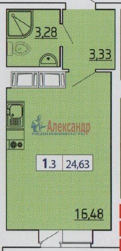 Студия (25м2) на продажу — фото 4 из 6